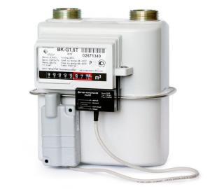 Счетчик газа Эльстер BK G1,6T 1 1/4 (110 мм) левый с термокорректором