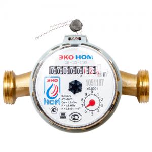 Счетчик воды универсальный ЭКО НОМ-15-110+КМЧ с обратным клапаном