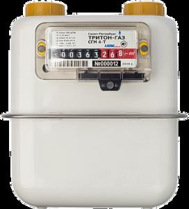 Счетчик газа с термокоррекцией ТРИТОН ГАЗ СГМ 4-Т левый
